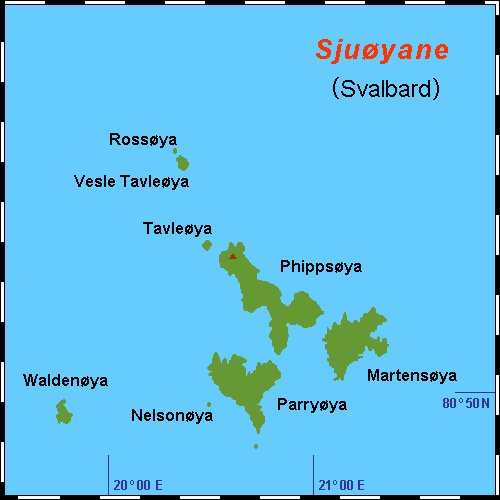 Map of the Sjuøyane